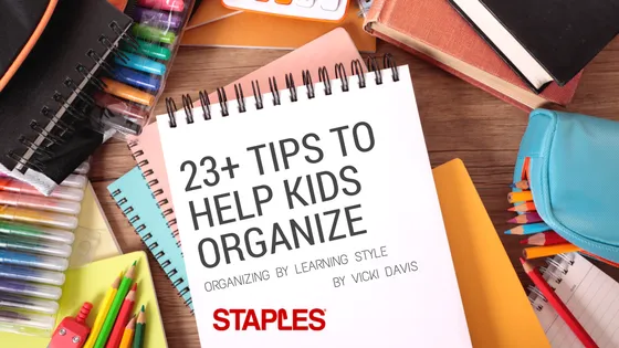 Staples organize learning styles