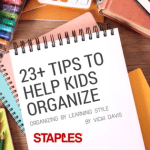 23+ Tips to Help Kids Organize by Learning Styles