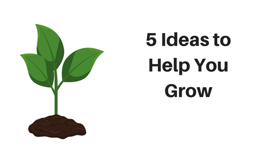 5 ideas to help you grow - growth