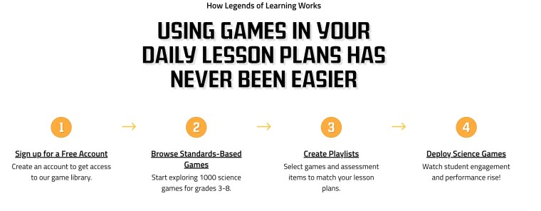 Legends of Learning ngss science games