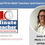 The Best PD for Math Teachers (and How to Use It) #mtbos #iteachmath