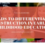 iPads to Differentiate Instruction in Early Elementary Education