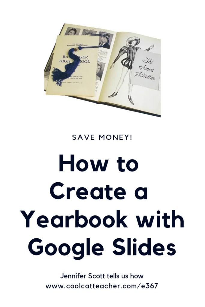 make a yearbook google slides pinterest