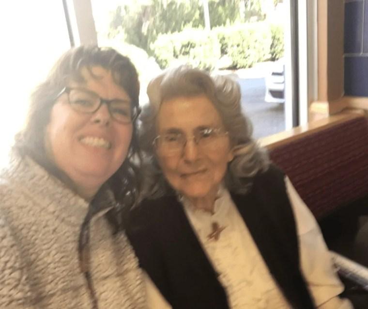 Mrs Adkins and Vicki Davis