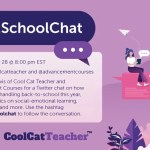 Back to School Twitter Chat Tuesday, July 28th – 8 pm EDT #Back2SchoolChat
