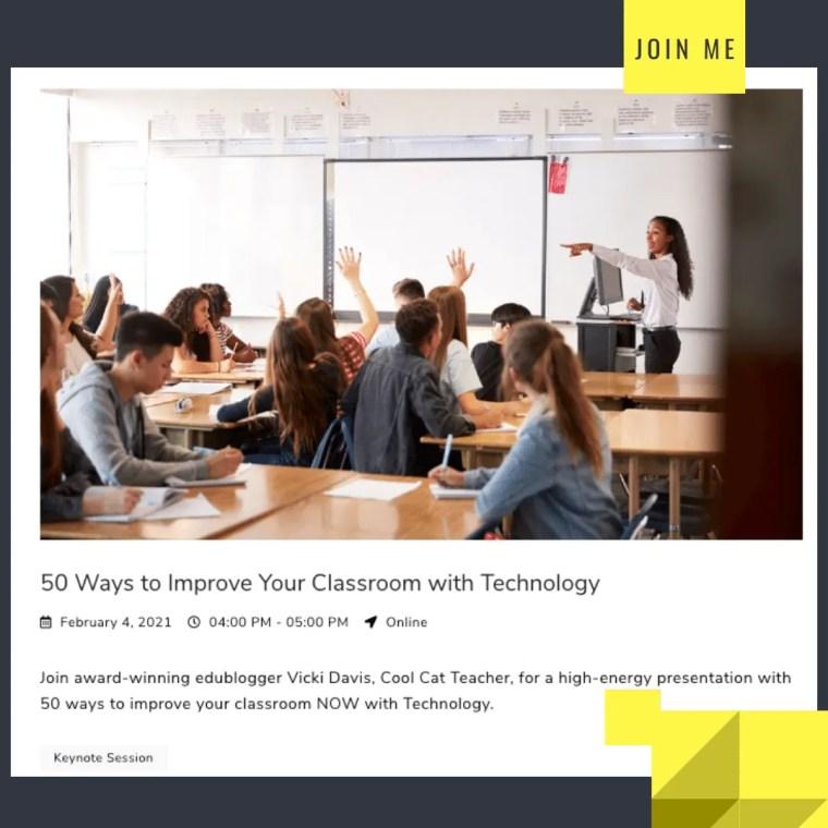 Vicki Davis edtech 50 ways to improve technology in the classroom February 4