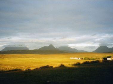 turf house mountain views