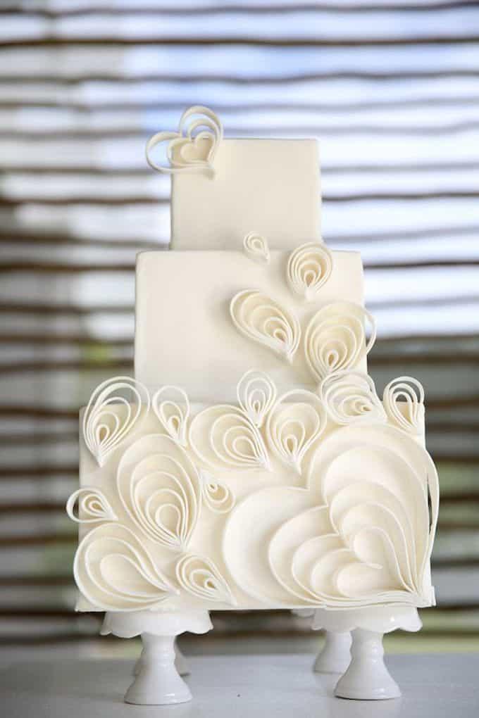 Non Fondant Wedding Cakes