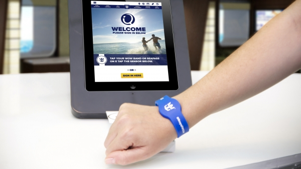 Quantum of the Seas will offer new RFID WOWband wristbands, which require only a simple tap to quickly navigate the ship, make onboard purchases, serve as the room key and more