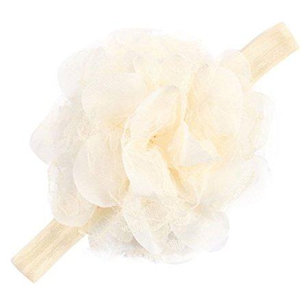 Tonsee – Mädchen Baby Stirnband Blume Tuch – beige -
