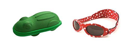 Baby Banz – Baby-Sonnenbrille und Frosch-Etui – mehrfarbig