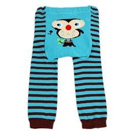 Dotty Fish, Baby und Kleinkind Woll-Leggings Blaue Ollie-Eule – blau/braun