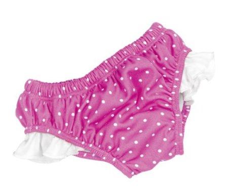 Fashy – Baby Mädchen Badebekleidung Badewindelhose – pink/weiß