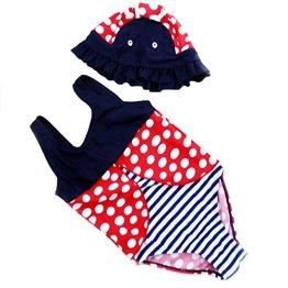 GGBaby – Baby Mädchen Badebekleidung Badeanzug mit Badehut – mehrfarbig