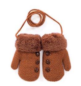 Moolecole – Baby Handschuhe Fäustlinge – braun