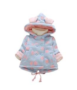 Sevenelks – Baby Mädchen Winterjacke – blau/rosa