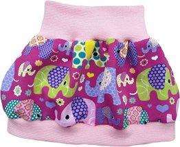 "Simply-sweet-baby – Baby Ballonrock ""bunte Elefanten"" –  rosa Bündchen"