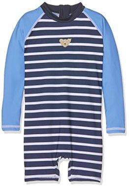 Steiff – Baby Jungen Badebekleidung Einteiler Badeanzug – blau