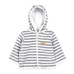 Steiff – Baby Jungen Jacke – weiß/grau