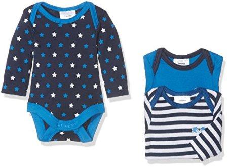 """Twins – Baby Jungen Bodies """"Sternchen"""" – blau, 3er Pack"""