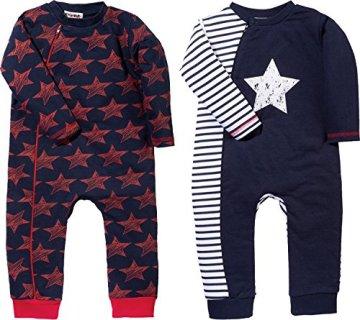 Baby Butt – Baby Schlafanzug Interlock-Jersey – marine/rot, 2er Pack -