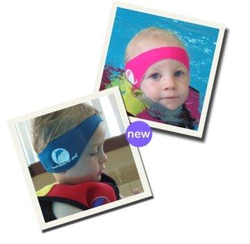 Ideen – Baby Jungen Badebekleidung Ohrenband/Stirnband aus Neopren – blau -