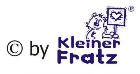 """KLEINER FRATZ – Baby Halstuch """"Herzensbrecher"""" – hellblau -"""