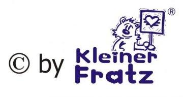 """KLEINER FRATZ – Baby Halstuch """"Mein Papa ist viel cooler als deiner"""" – hellblau -"""