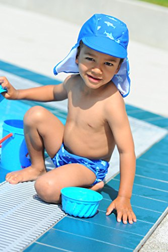 "Playshoes – Baby Jungen Badebekleidung Windelhose ""Hai"" – blau -"