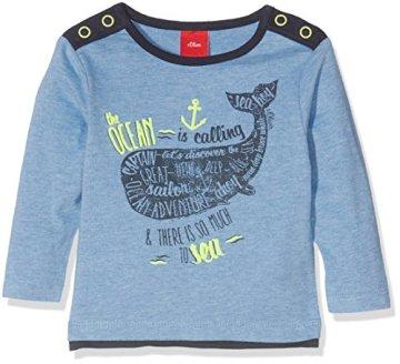 s.Oliver – Baby Jungen Langarmshirt – blau -