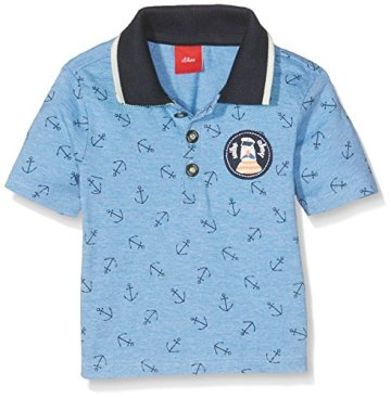 s.Oliver – Baby Jungen Polo T-Shirt Langarm – blau -