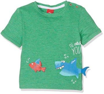 s.Oliver – Baby-Jungen T-Shirt Kurzarm – grün -