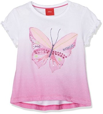 s.Oliver – Baby Mädchen T-Shirt Kurzarm – rosa -