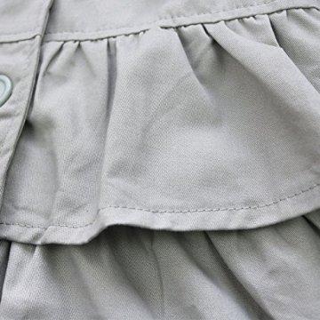 Tiaobug  – Baby Mädchen Jacke Trenchcoat – grau -