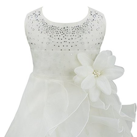 """Tiaobug – Baby Mädchen Kleid """"Prinzessin"""" Hochzeit – weiß -"""