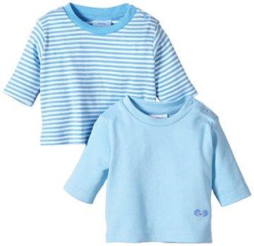 Twins – Baby Jungen Langarmshirts – blau, 2er Pack -