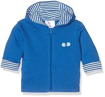 Twins – Baby Jungen Sweat Jacke mit Kapuze – blau -