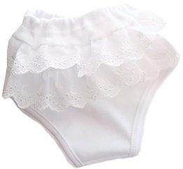 La Partini – Unterhose- weiß/Rüschen