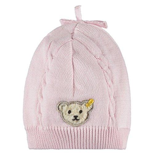 Steiff – Baby Mütze – rosa Bärchen