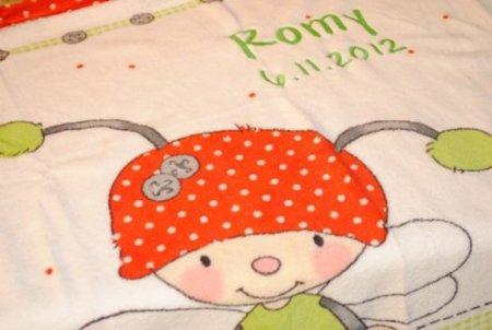 Wolimo – Babydecke mit Namen – Käfer -