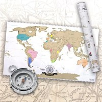 Weltkarte zum Rubbeln - Rubbel Landkarte Deluxe in XXL