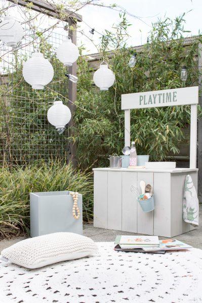 DIY speelplek tuin garden play