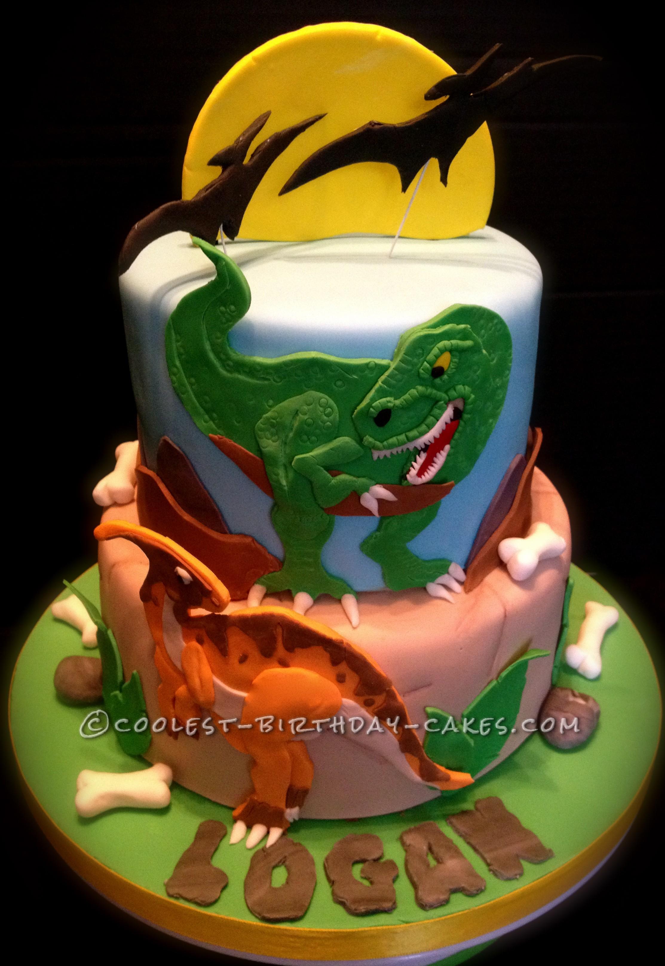 Coolest Dino Mite Dinosaur Birthday Cake