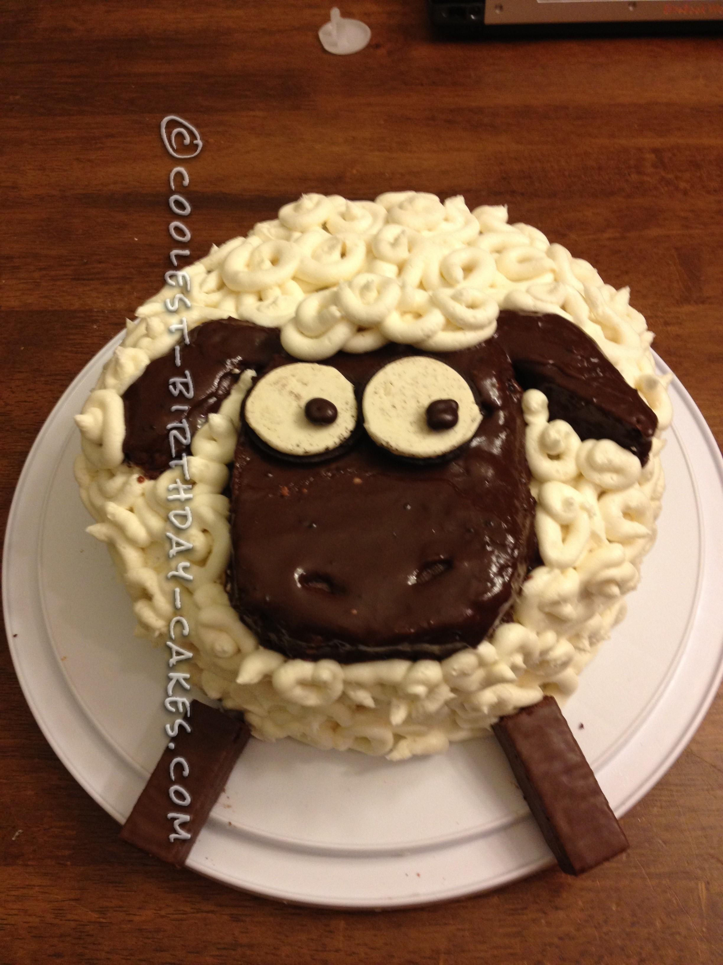 Coolest Shaun The Sheep Birthday Cake