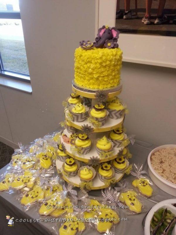 Yellow And Gray Elephant Themed Baby Shower Why Santa Claus
