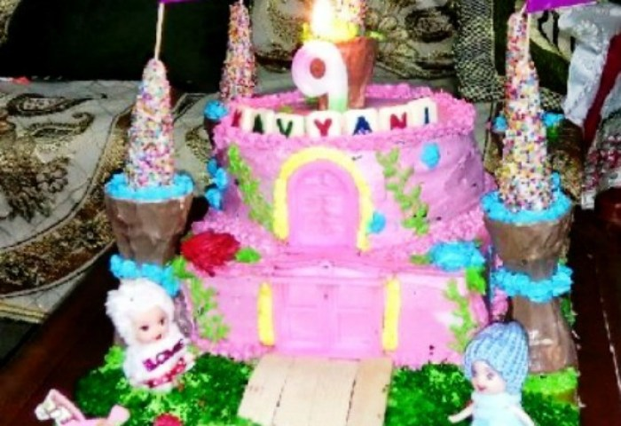 Coolest 9th Birthday Castle Cake