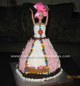 Easy Homemade Barbie Doll Birthday Cake Idea For A 4th Birthday