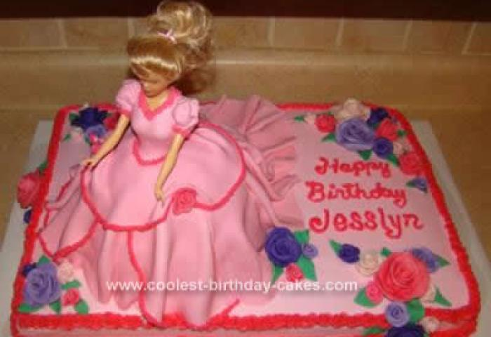 Cool Homemade Pink Fondant Barbie Doll Cake For My Granddaughter
