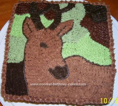 coolest deer birthday cake