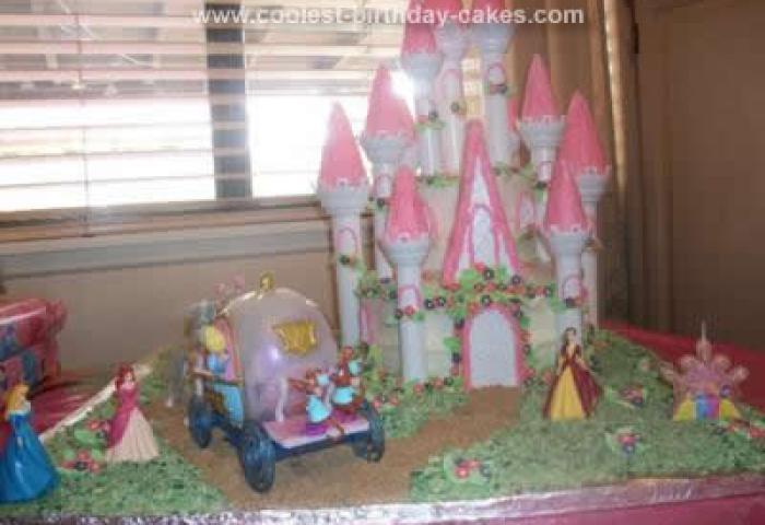 Awesome Homemade Disney Princess Castle Cake Using The Wilton